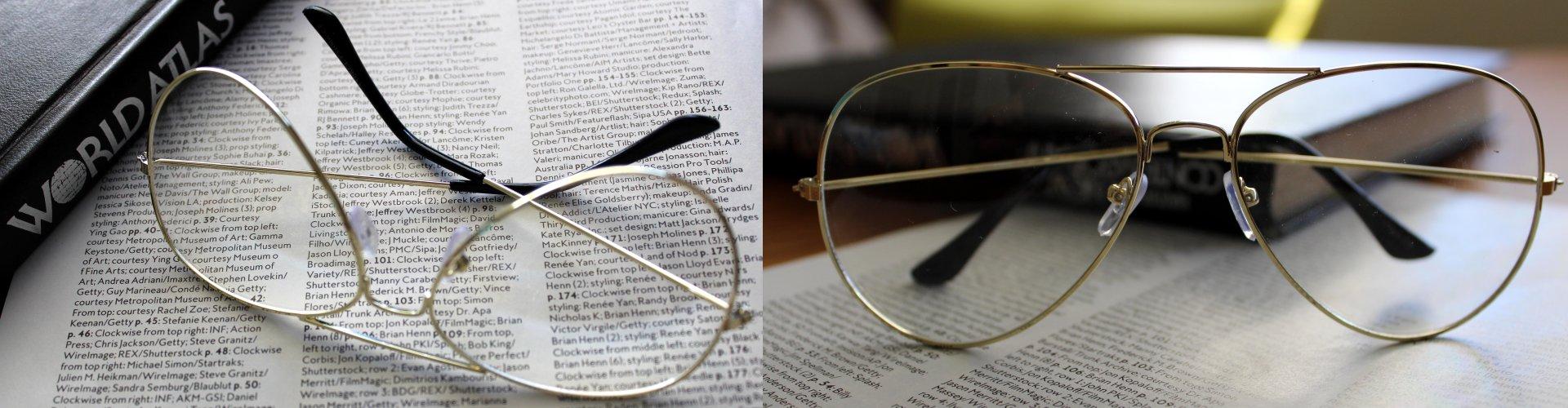 Clear Lens-Metal Frame