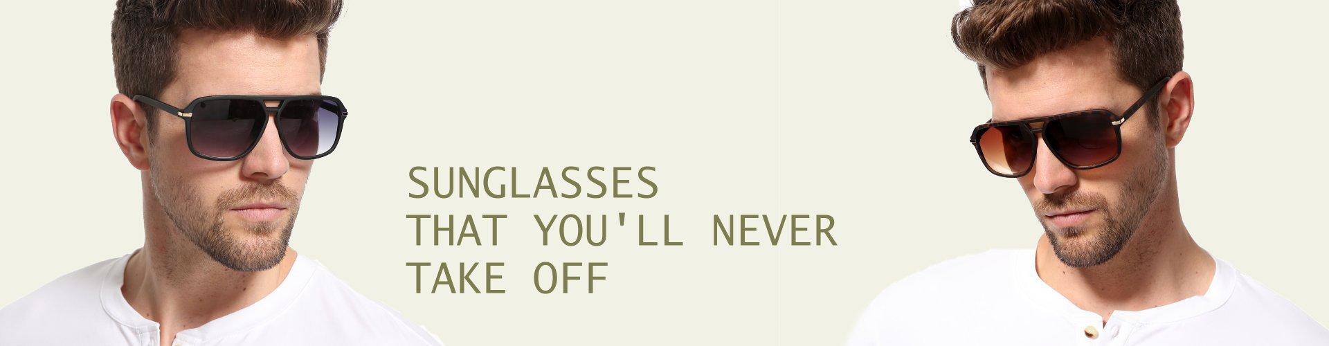 Men's Plastic Sunglasses